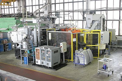 The automated foundry complex based on IDRA 560 pressure casting machine.