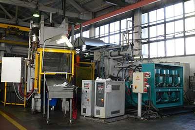 The automated foundry complex based on LITOSTROJ 1000S pressure casting machine.